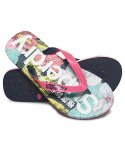 Superdry Womens All Over Print Flip Flops