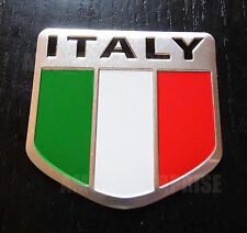 Chrome Style Italian Italy Tricolore Flag Badge fits Toyota GT86 Yaris Verso MRS
