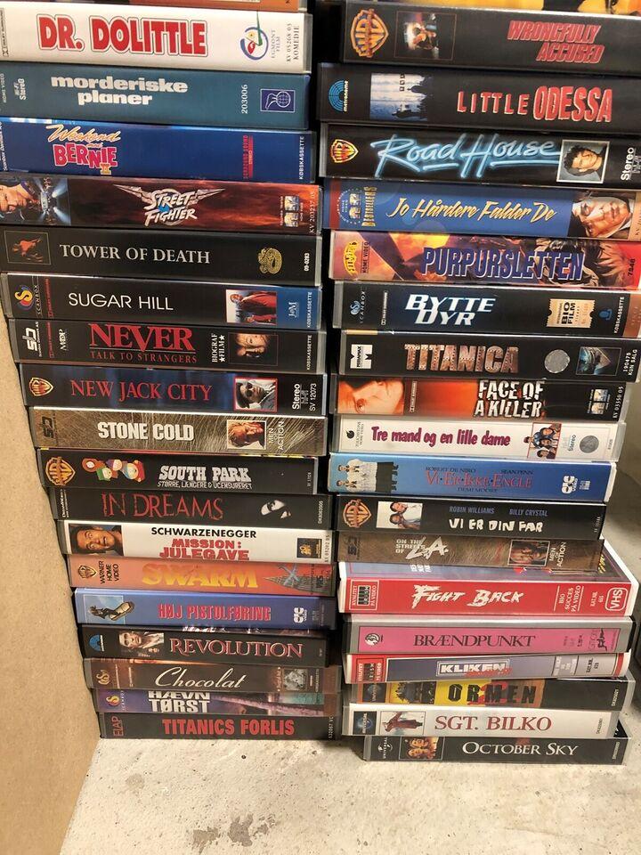 Anden genre, VHS samling m/tekst DEL 2