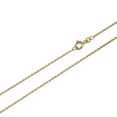 42cm Ankerkette Collier 333er Gelb Gold Kette Diamantiert 1,3mm 2,2g 6630
