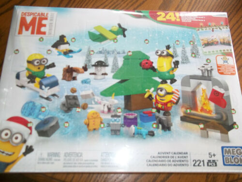 Minions Advent Calendar  Mega Bloks 221 pcs New Despicable Me