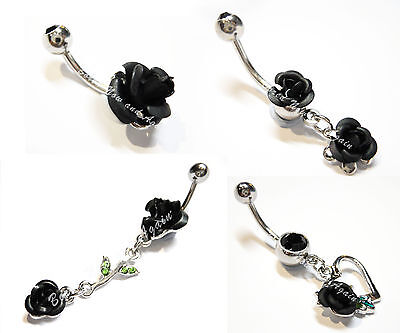 14G - Sold Individually Leaf Your Worries Behind Belly Button Ring 1.6mm