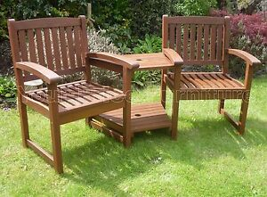 Henley Love Seat Chunky Garden Furniture Companion Set Corner Bench Freedelivery Ebay