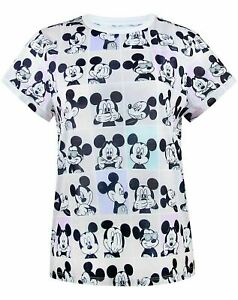 Disney-Mickey-Mouse-Photobooth-All-Over-Print-Women-039-s-T-shirt
