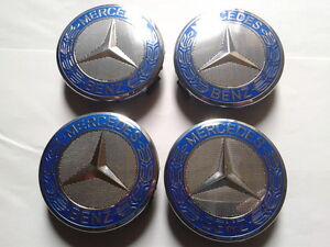 4x Cache Moyeu Centre de Roue Enjoliveur Emblem jante Logo insigne Mercedes 75mm