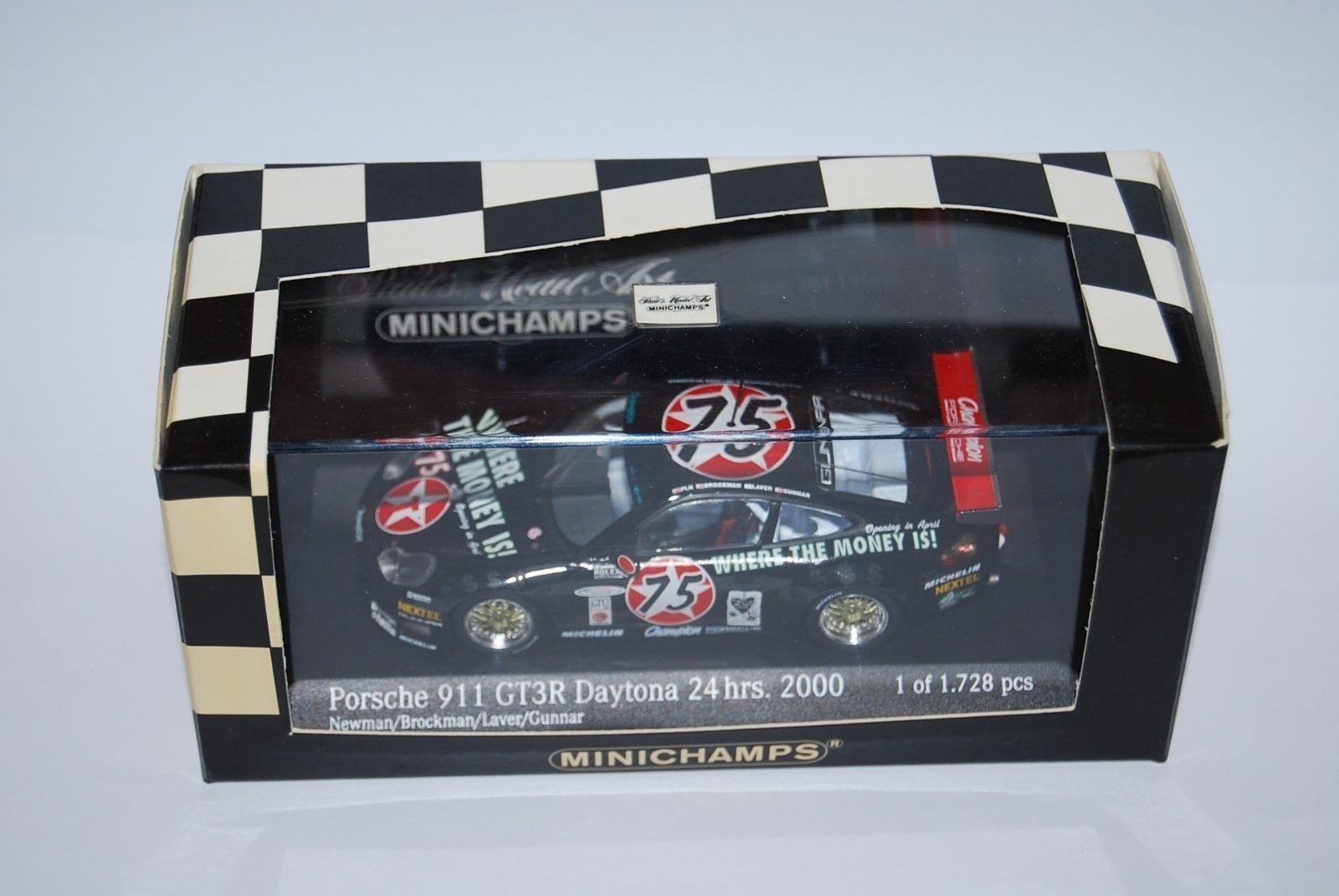 MINICHAMPS PORSCHE 911 GT3 R DAYTONA 2000 430006975 NEUF BOITE NEW BOX 1 43