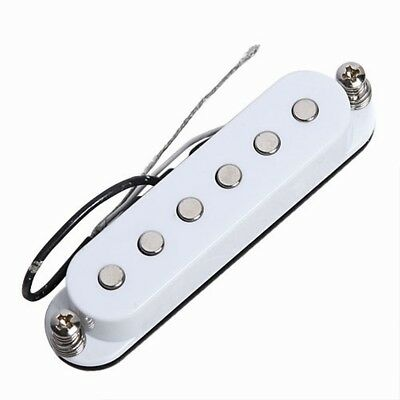 white single coil pickup for 6 strings electric guitar ceramic pickup ebay. Black Bedroom Furniture Sets. Home Design Ideas