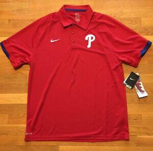 9a5d0fb7 Image is loading Nike-Philadelphia-Phillies-Polo-Jersey-Men-039-s-