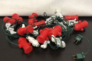 Details About Dalmation Dog And Red Fire Hydrant Outdoor Decor Novelty String Lights Plastic