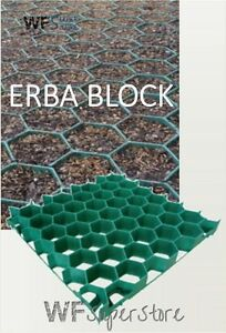 Piastrella griglia salvaprato 81x41xh4 cm in pvc pavimento per giardino