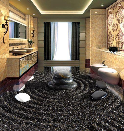 3D Noyaux 09 Fond d'écran étage Peint en Autocollant Murale Plafond Chambre Art