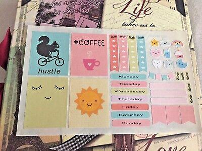 Scrapbooking Embellishment Erin Condren Planner Halloween Edition Stickers