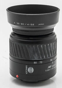 Minolta AF Zoom 35-80mm 35-80 mm 4(22)-5.6 Objektiv schwarz - Dynax / Sony A