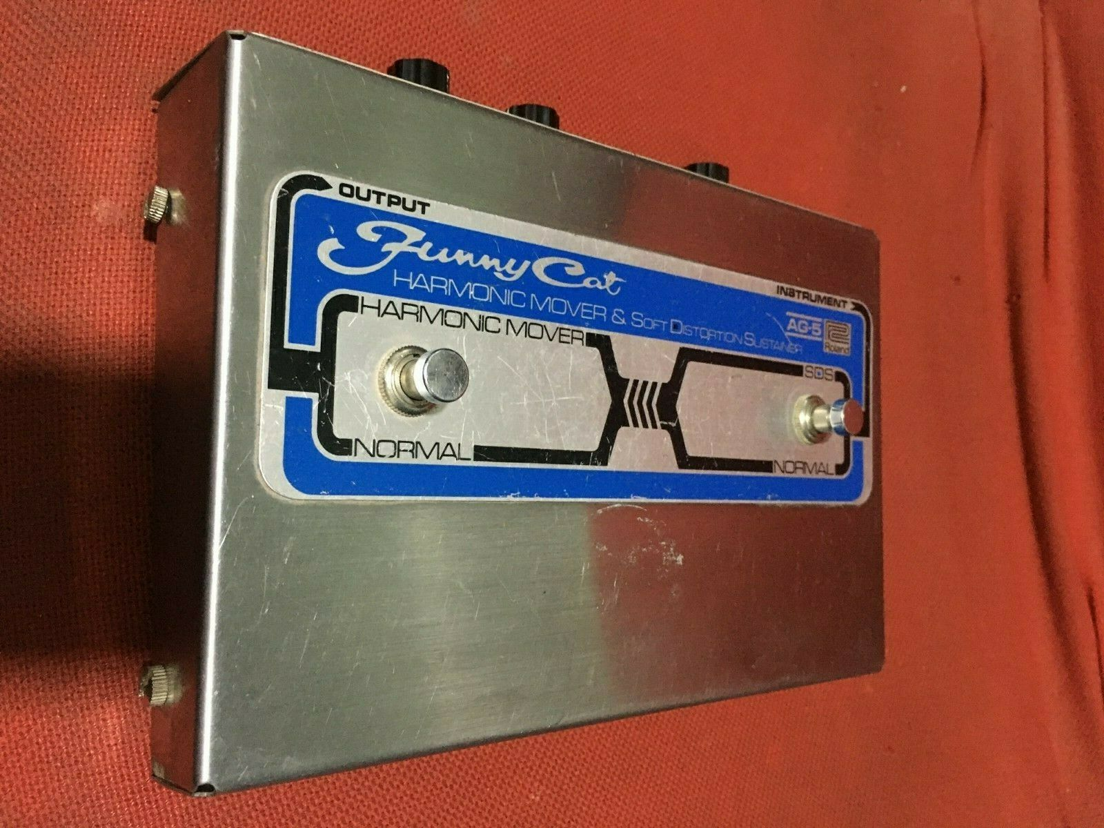 ROLAND AG-5 FUNNY CAT Harmonic Mover  Distortion Vintage Effects Pedal 1970's