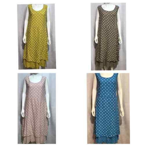 Wholesale Joblot Women PolkaDot Italian Lagenlook Quirky Long Boho Tunic Dress