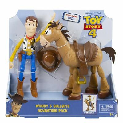 Toy Story 4 Woody Bullseye Twin Pack Bundle Kids Toy Perfect Gift Movie Related
