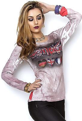 MISSY Shirt Strass  London mehrfarbig Gr. S/M M/L
