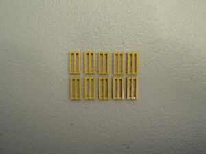 x10 New Lego White tile modified grill with bottom groove