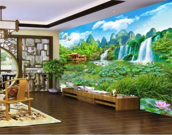 3D Grüne Blätter Hawthorn  Fototapeten Wandbild Fototapete BildTapete Familie DE