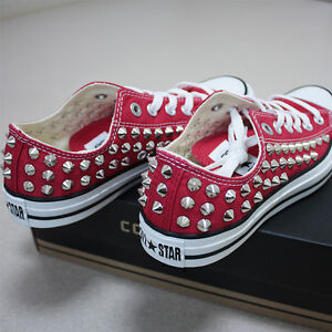 76cb014d5173 Genuine CONVERSE All-star row-top with studs Sneakers Sheos Red