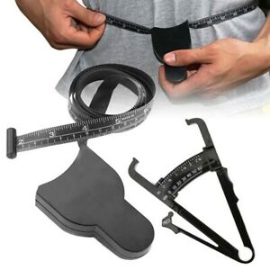 Body Fat Caliper Body Mass Measuring Tape Tester Fitness Weight Loss Muscle