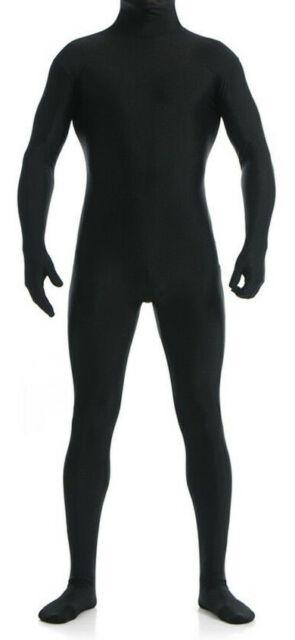Men Spandex Zentai Open Mouth Full BodySuit Second Skin Tight Zentai DanceSuit
