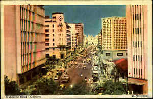 Kalkutta-Calcutta-Indien-India-Postcard-Asia-1963-Brabourne-Road-Strasse-Street