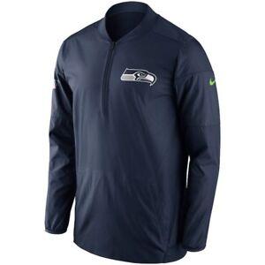 9fcc409d243 Nike Seattle Seahawks Half-zip Lockdown Men's Jacket - SZ LARGE Navy ...