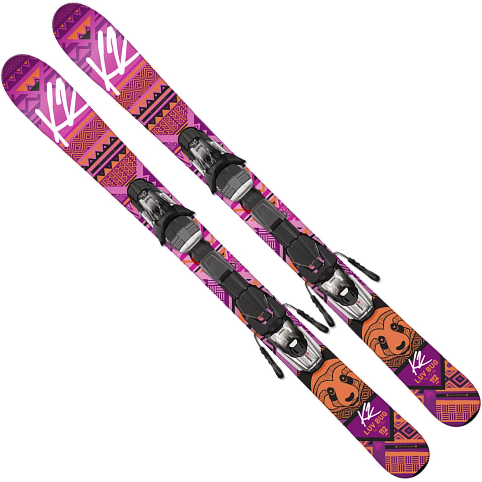 K2 Luv Bug Kinderski + Marker Fastrak2 4.5   7 Bindung Kidsski Juniorski NEU