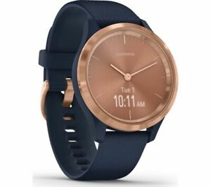 GARMIN vivomove 3S Smart Watch - Navy & Rose Gold   Currys