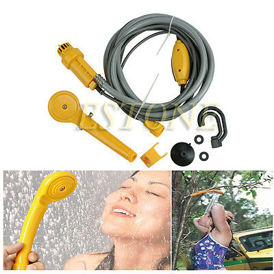 Portable Outdoor 12V Electric Car Plug Camper Caravan Van Camping Travel Shower