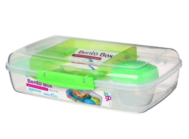 Sistema Bento Box 1.76L, Green Portions Healthy Eating Work School On The Go