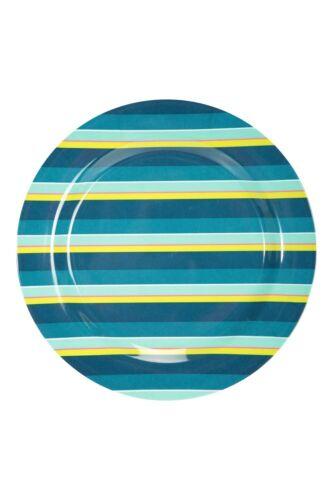 Stripe Mountain Warehouse Melamine Picnic Plate with Colourful Striped Design