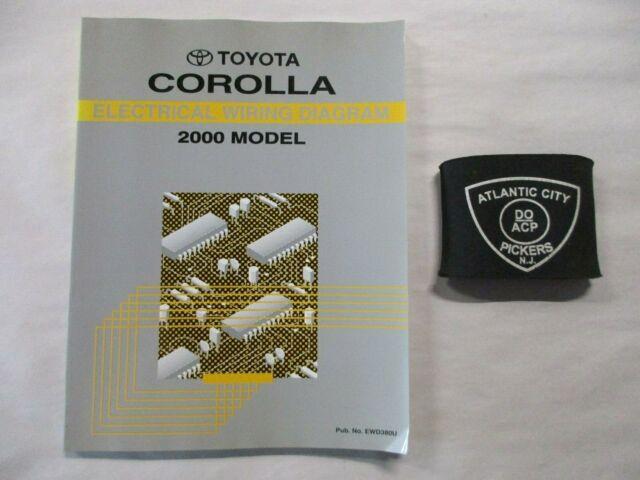 2000 Toyota Corolla Electrical Wiring Diagram Service Manual