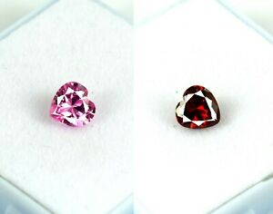 Natural 4.35 Ct Heart Pink & Orange Sapphire Gems Pair Certified Valentine's Day