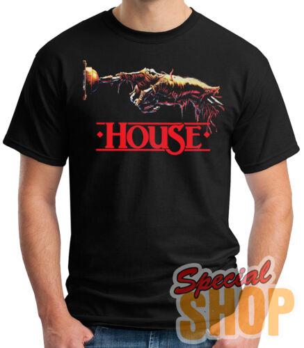 T-Shirt House 1986 Comedy Horror Film T-Shirt Junge //Mädchen //Hosenträger