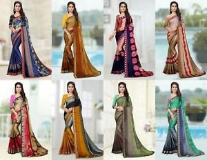 Designer Kanchipuram Saree Indian Bollywood Bhagalpuri Silk sari Party Wear PT