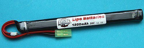 G&P 11.1V 1200mAh 30C Lipo Battery (AK Type) - GP-BAT007B