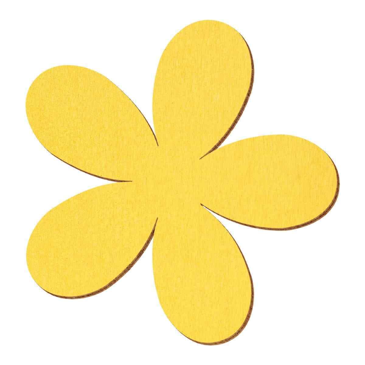 Gelbe Holz Plumeria - 2-10cm Streudeko Basteln Deko Tischdeko | Günstige  | Spezielle Funktion
