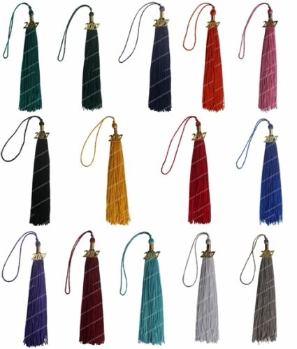 Graduation Tassel with Year Charm 9-inch 14Colors