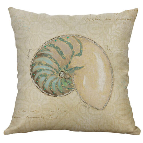 Sea Octopus Conque impression Coton Lin Taie d/'oreiller Housse de coussin Home Decor