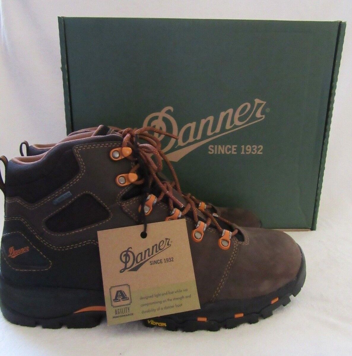 DANNER 13858 Vicious Waterproof Leather Work Boots shoes Size 11 D NWB