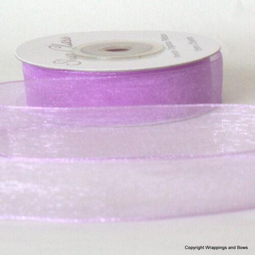 22.8 metres *Choose Colour* Organza Chiffon Ribbon 15mm wide 25 yard reel