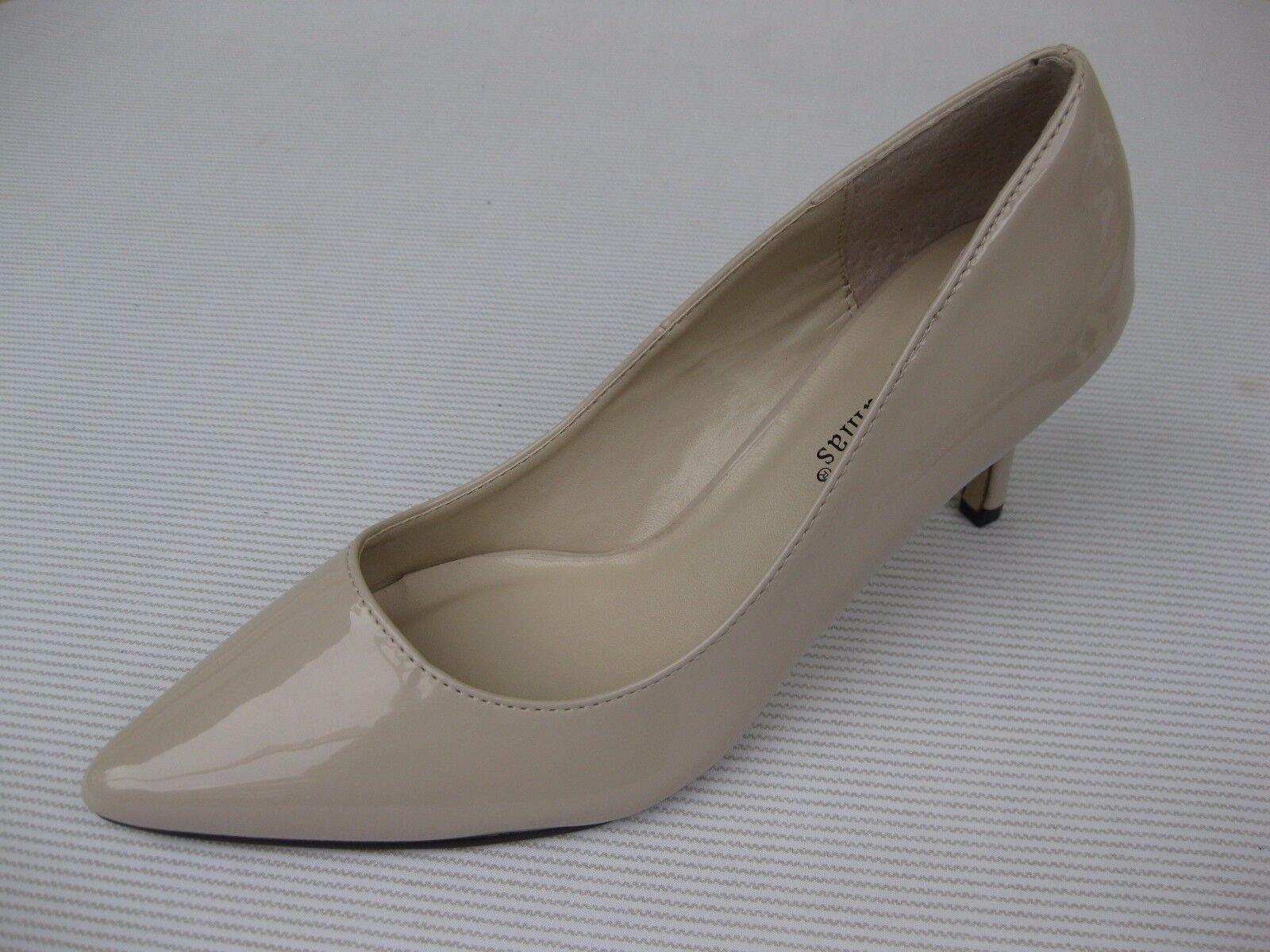 Pierre $45 Dumas Womens Shoes NEW $45 Pierre Paris Nude Patent Pump 8 M a251c9
