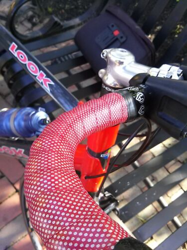 NOS Cinelli UNICA padded handlebar tape silver dots on deep red