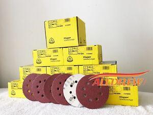 125-mm-Discos-de-Lijado-Papel-de-Lija-5-034-Klingspor-8-agujero-Almohadillas-40-600-Grit