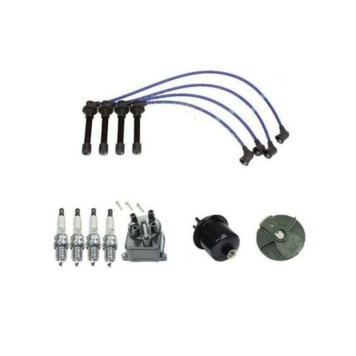 Cap Rotor NGK Wire Spark Plugs Fuel Filter Kit for Honda Civic CX DX LX 1.6L