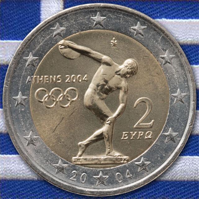 2 Euro Münze Griechenland Olympia 2004 unzirkuliert - stempelglanz unc. - ST
