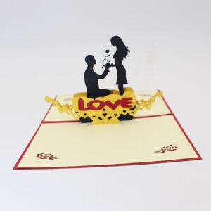 Trendy-Sweet-3D-Greeting-Card-Valentines-Handmade-Couple-Postcard-Gift-Jian