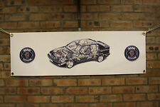 saab 9000 large pvc heavy duty WORK SHOP BANNER garage classic SHOW